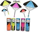Toys+ 5 Piece Set Tangle Free Kids Parachute Men