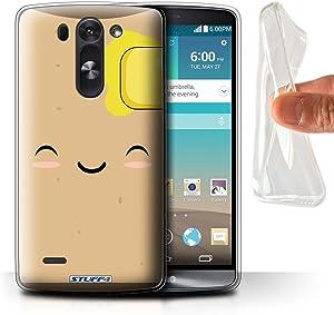 Phone Case for LG G3 Mini S/D722 Kawaii Food Toast Design Transparent Clear Ultra Soft Flexi Silicone Gel/TPU Bumper Cover