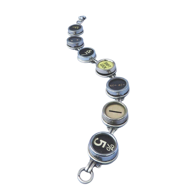 Typewriter key jewelry Bracelet  Spells BOOKWORM  Rare Colors Typewriter key Bracelet recycled jewelry steampunk jewelry