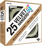 Closet Complete Baby Size, Premium Heavyweight, Velvet Hangers – Ultra-Thin, Space Saving, No-Slip, Perfectly Sized For Babies 0-48 months, Ivory, Set of 25