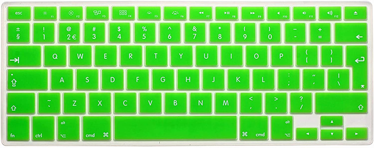 Laptop Keyboard Cover for MacBook Air 13 Pro 15 Inch A1466 A1502 A1278 A1398 EU Silicon Keyboard Cover Color Protective Film,Orange