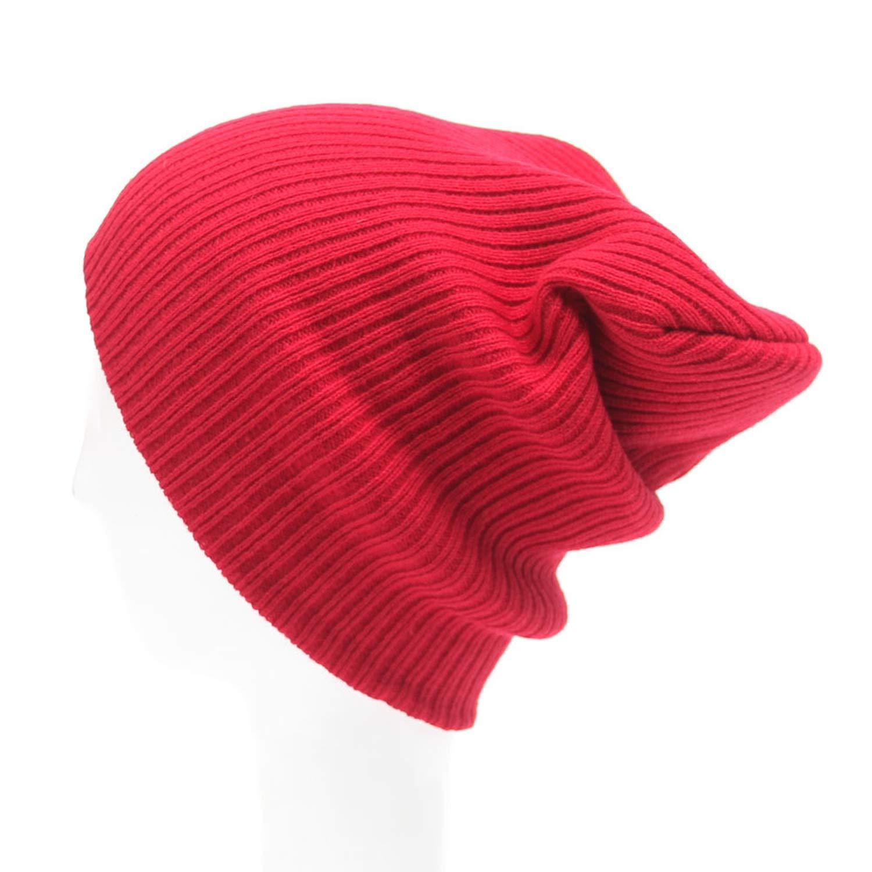 Knitted Cap Mens Women Beanie Knit Ski Cap Warm Unisex Wool Hat Hats for Women