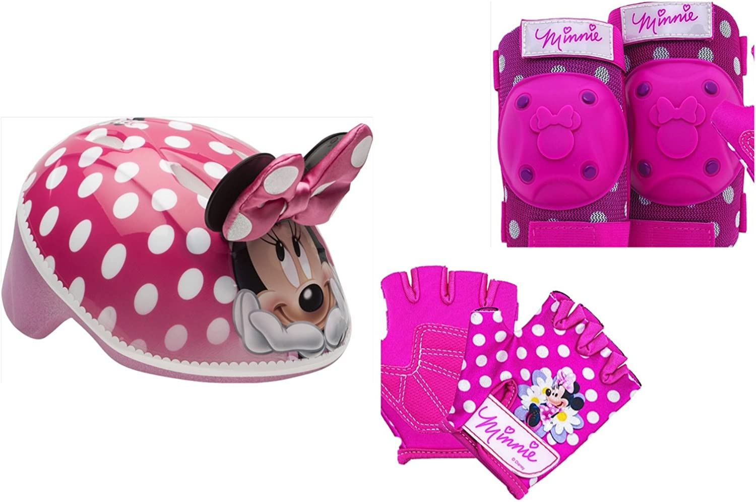 Bell Protective Gear with Elbow Pads//Knee Pads and Gloves Minnie Mouse