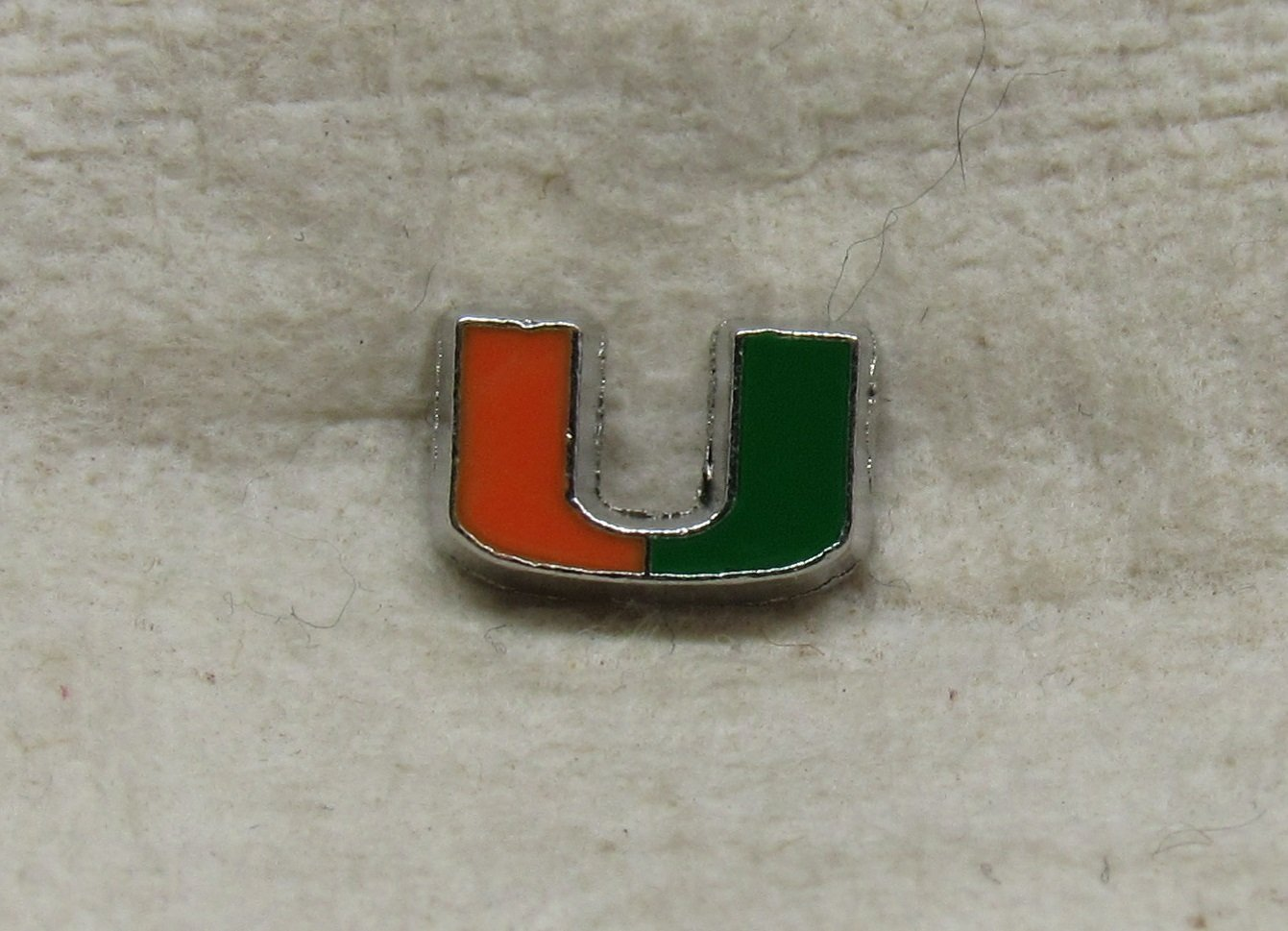 Miami Hurricanes Cutout Floating Charm