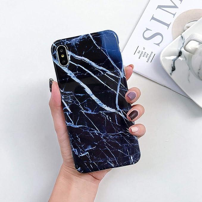 Amazon.com: Luxury Marble Phone Case for iPhone X 7 6 6S 8 ...