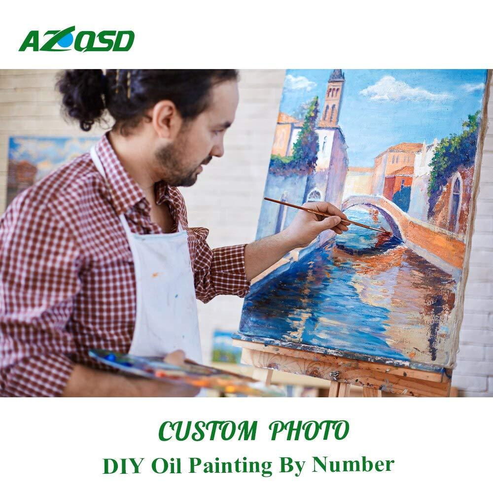 suministro de productos de calidad 70x70cm no no no frame KYKDY Pintura por números, por enCochego su imagen, foto personalizada en lienzo, dibujo, pintura al óleo impresa para adultos, decoración de bricolaje, 70 x 70 cm sin marco  envío gratis