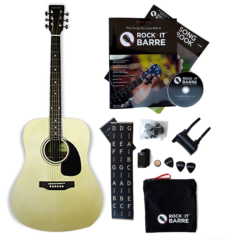 Amazon Acoustic Guitar Wrock It Barre Starter Kit Tanara