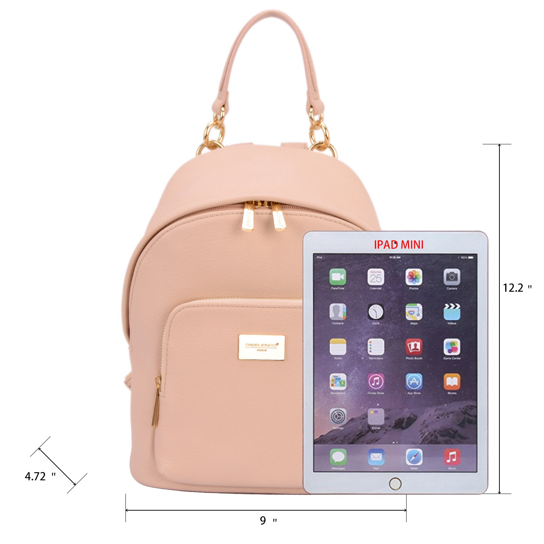 cd005b532ac6 David Jones - Women's Fashion Backpack Back Bag Rucksack Girl School  Teenager Purse Small Size Trendy Zipper Student College Handbag Faux  Leather Shoulder ...