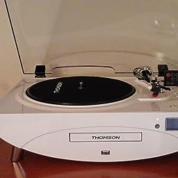 Amazon.es:Opiniones de clientes: Thomson TT401CD- Tocadiscos, blanco