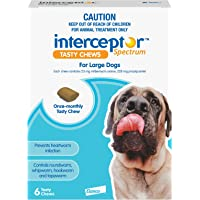 Interceptor® Spectrum Tasty Chews for Large Dogs 22-45kg (Blue) - 6 Pack