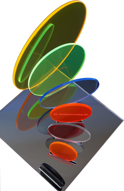 verschiedene Gr/ö/ßen Rund Fluoreszierend Scheibe Zuschnitt in-outdoorshop Acrylglas /Ø 70mm, rot Plexiglas/® Platte Rund