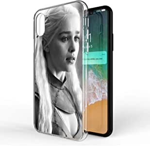 Okteq Clear TPU Protection and Hybrid Rigid Clear back cover printed Compatible with apple Iphone X and Iphone XS 5.8 inch only - arya stark 5 By Okteq