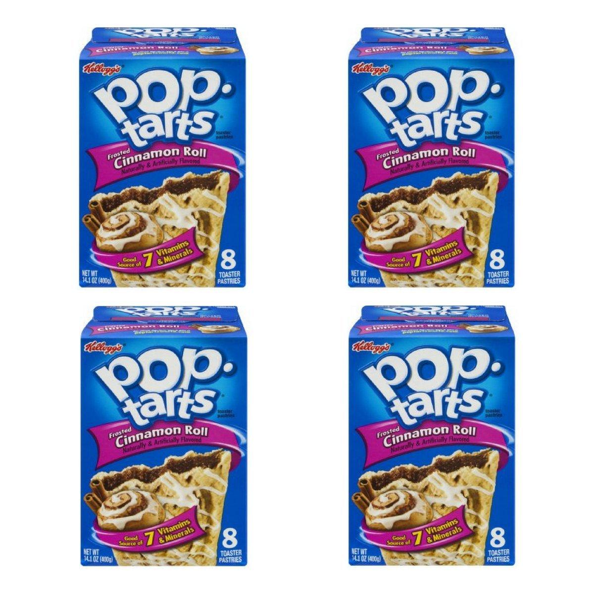 Kelloggs Pop-Tarts Cinnamon Roll, 8 ct, 14.1 oz (Pack of 4) by Kellogg's (Image #1)