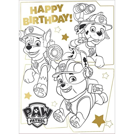 Amazon.com : Paw Patrol Colouring Fold Out Poster Birthday ...