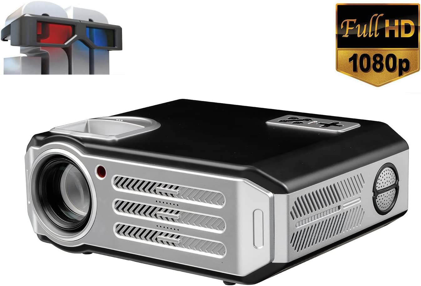 Proyector 1080p Nativo, Videoproyector Full HD, Proyector LED con ...