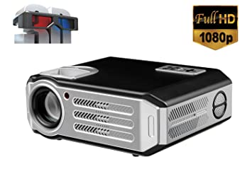 1080P videoproyector FULL HD 3D vdeo proyector LED 4800 lumen HDMI ...