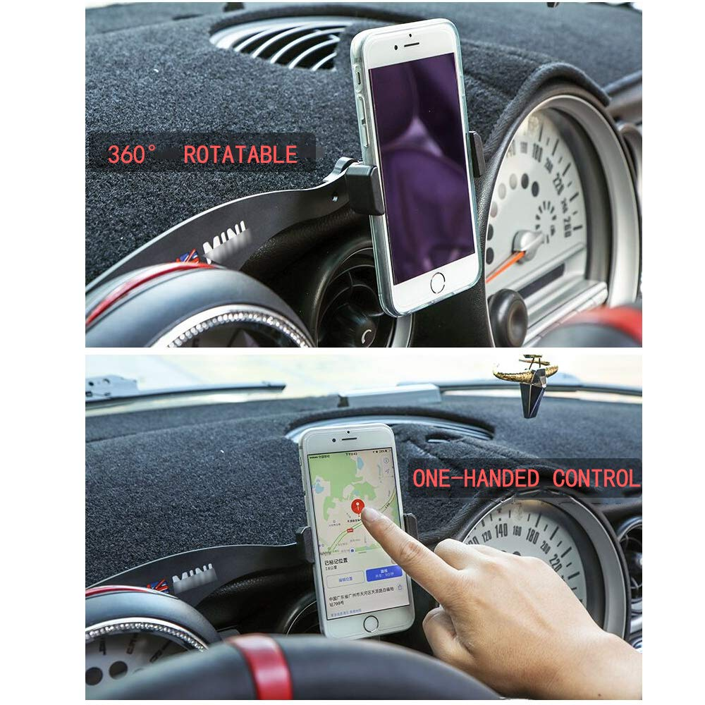 Black /& Grey Union Jack UK Flag Style 1 Pack KEENICI Car Phone Mount Cell Phone Cup Holder with 360/° Rotatable Cradle for Mini Cooper R60 R61