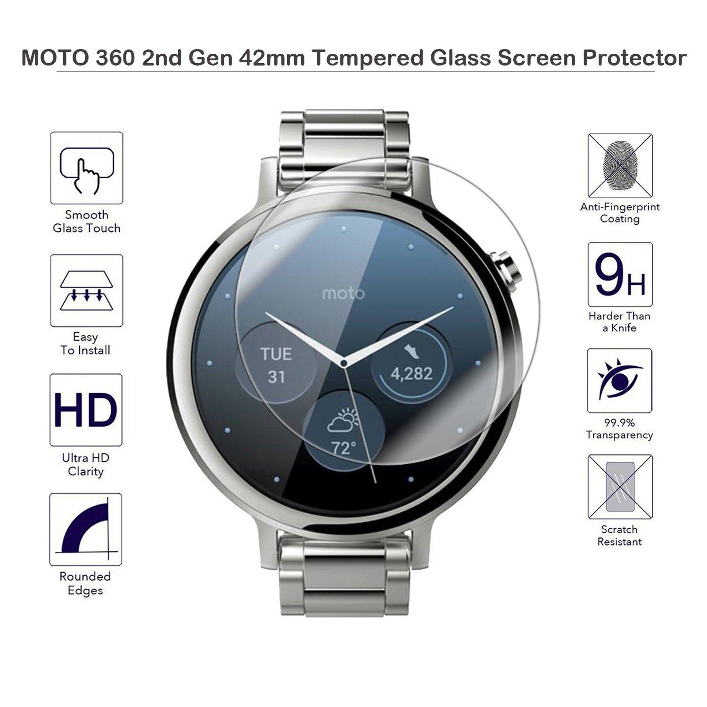 Fiimi Protector de pantalla de cristal templado para Motorola Moto 360 2 nd Gen 42 mm
