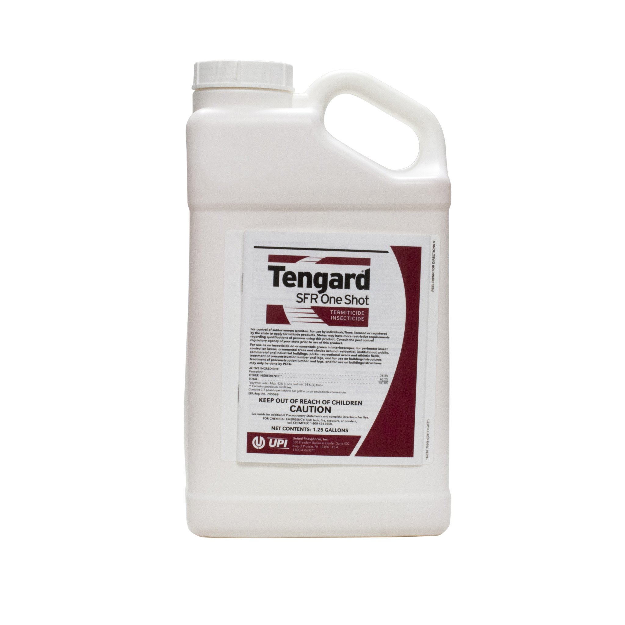 Tengard SFR 36.8 % Permethrin Insecticide / Termiticide 1.25 Gallon ~~ Kill Termites Fleas Ticks Roaches Ants Mole Crickets Ching Bugs and Many More Pests Used By Many Pros!! by United Abrasives