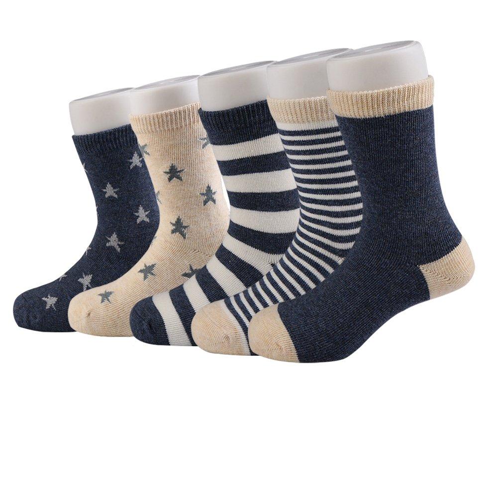ChigenBird Ankle Boys Sock Performance Cushion Soft Seamless Socking(6-8 Years)