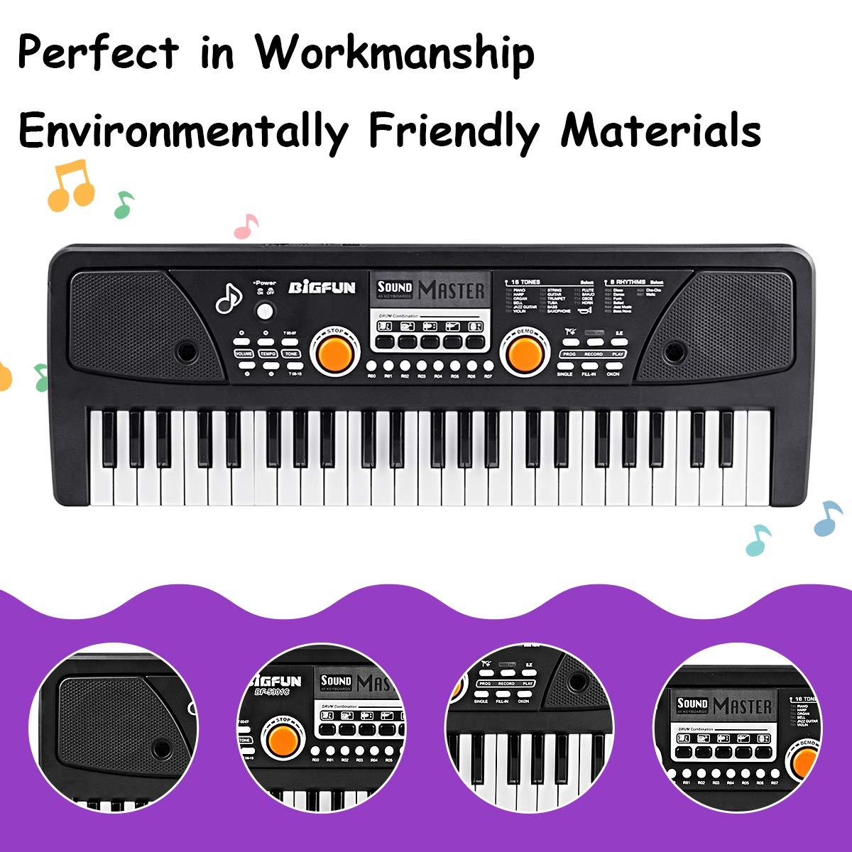 RenFox 49 Key Piano Keyboard Portable Electronic Kids Piano Keyboard Beginner Digital Music Piano Keyboard & Microphone Teaching Toy Gift for Kids Boy Girl by RenFox (Image #5)