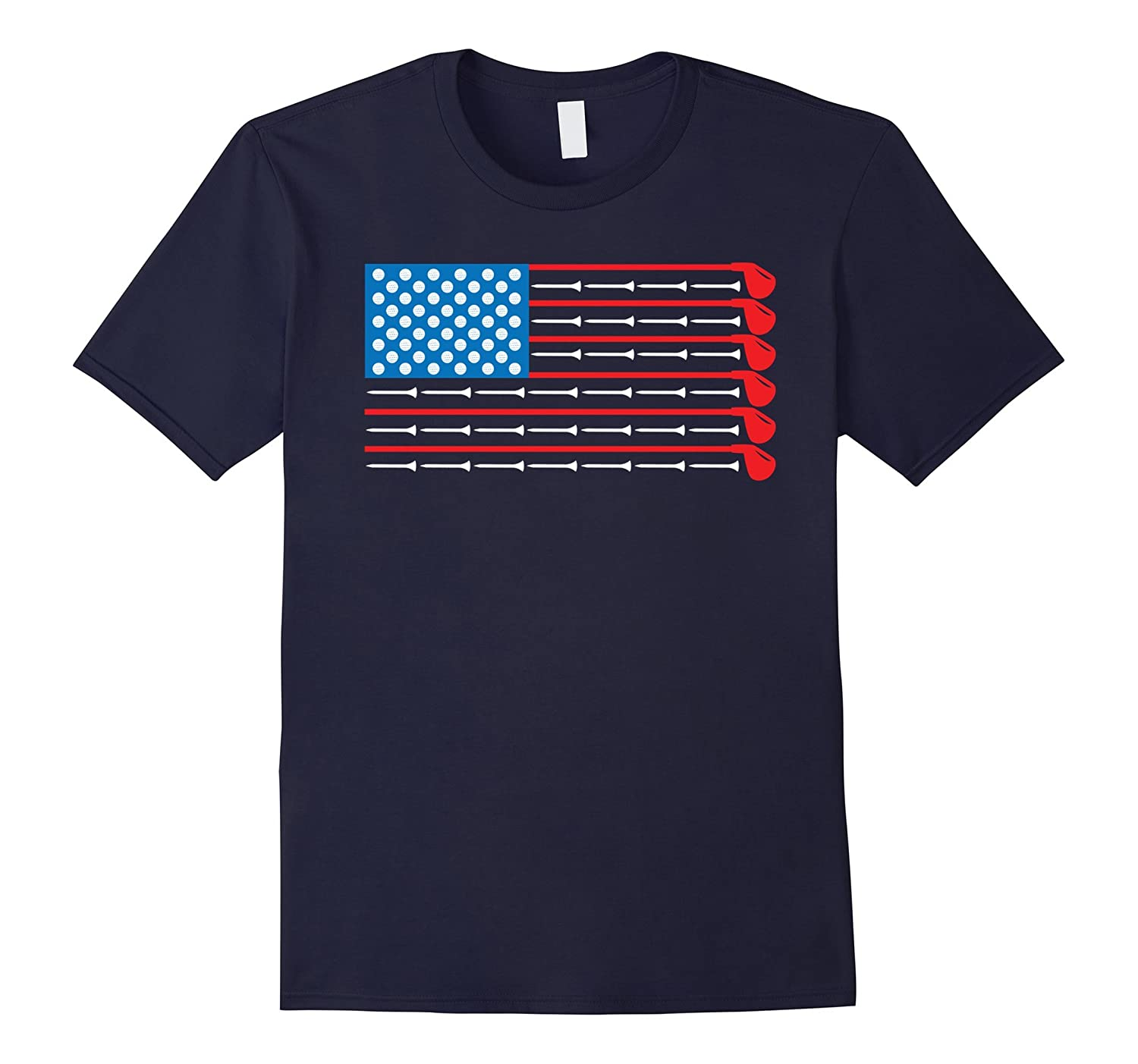 American Flag Golf Clubs, Balls and Tees Sports Shirt-RT