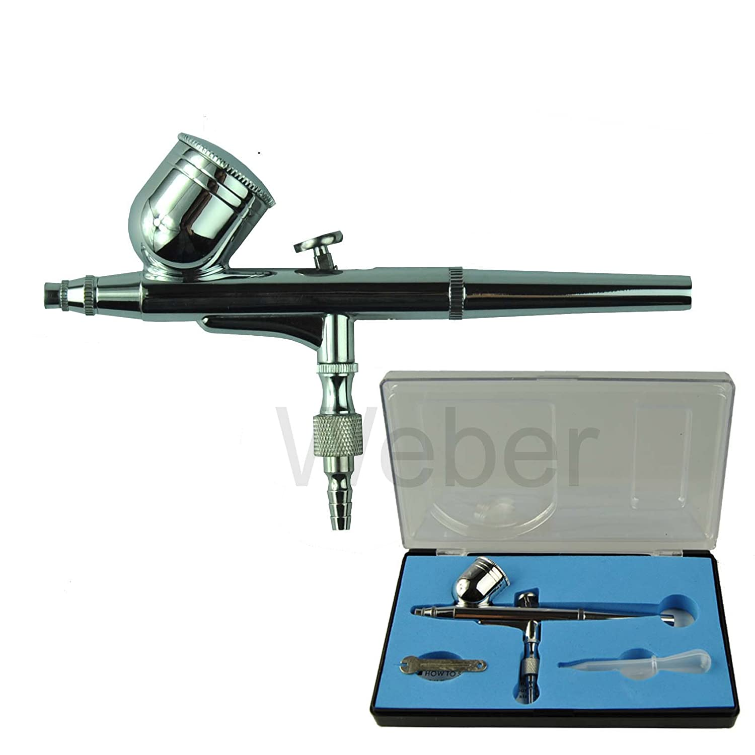 New Pro Gravity Feed Dual-Action Air Brush Airbrush Set For Art Tattoo Nail. 7 cc cup. Nozzle 0.3 mm. Weberdisplays