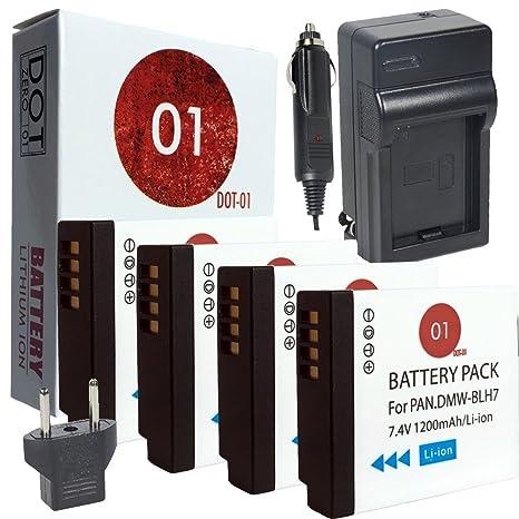 4 x dot-01 marca Panasonic Lumix GX800 baterías y cargador ...