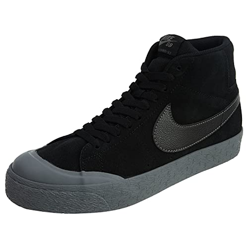86dff018892e08 NIKE Men s SB Blazer Zoom Mid XT Skateboarding Shoes-Black Metalic  Pewter-9.5