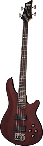 Schecter OMEN-4 4-String Bass Guitar, Walnut Satin