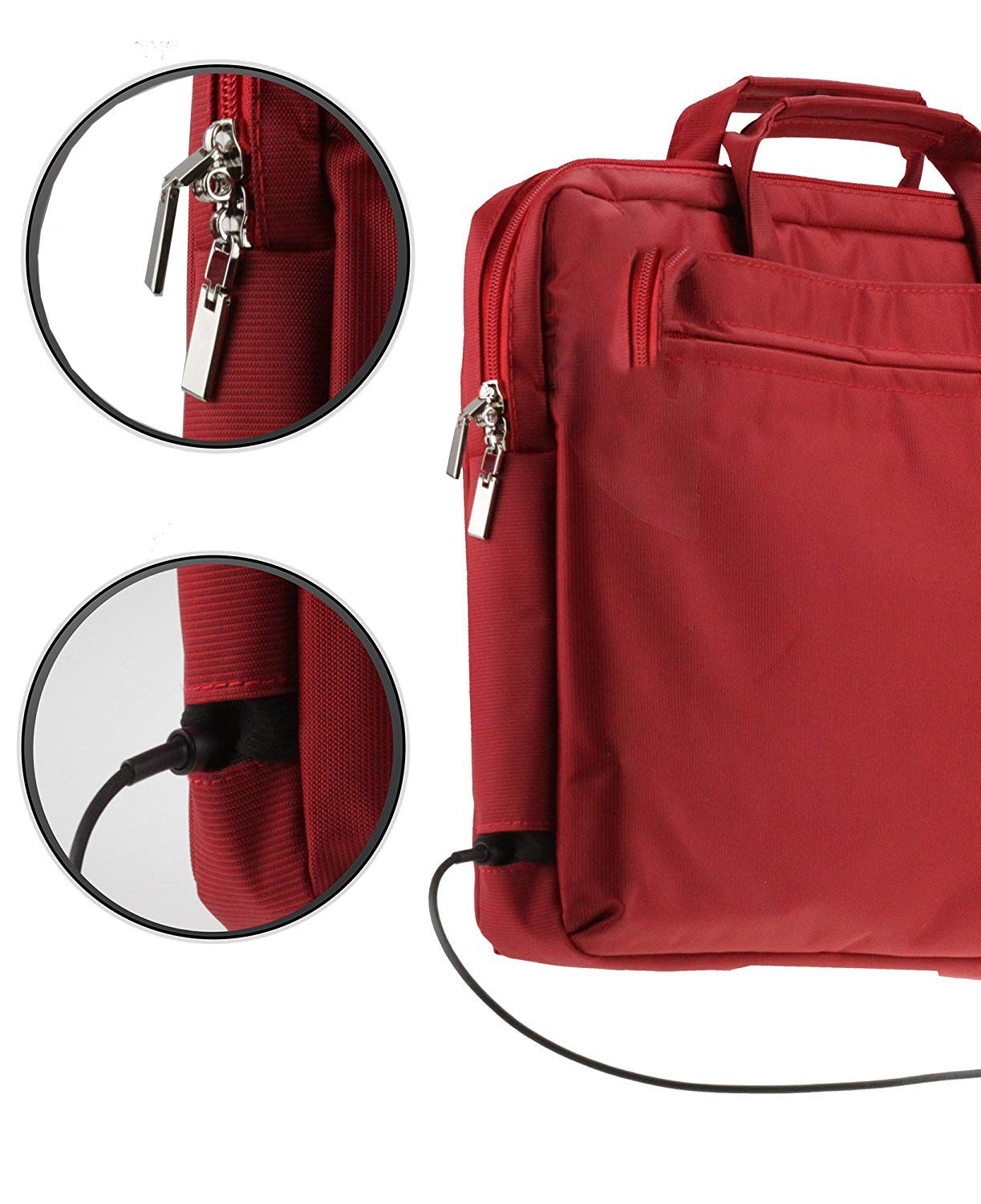 Amazon com: Navitech Red Sleek Premium Messenger/Carry Bag
