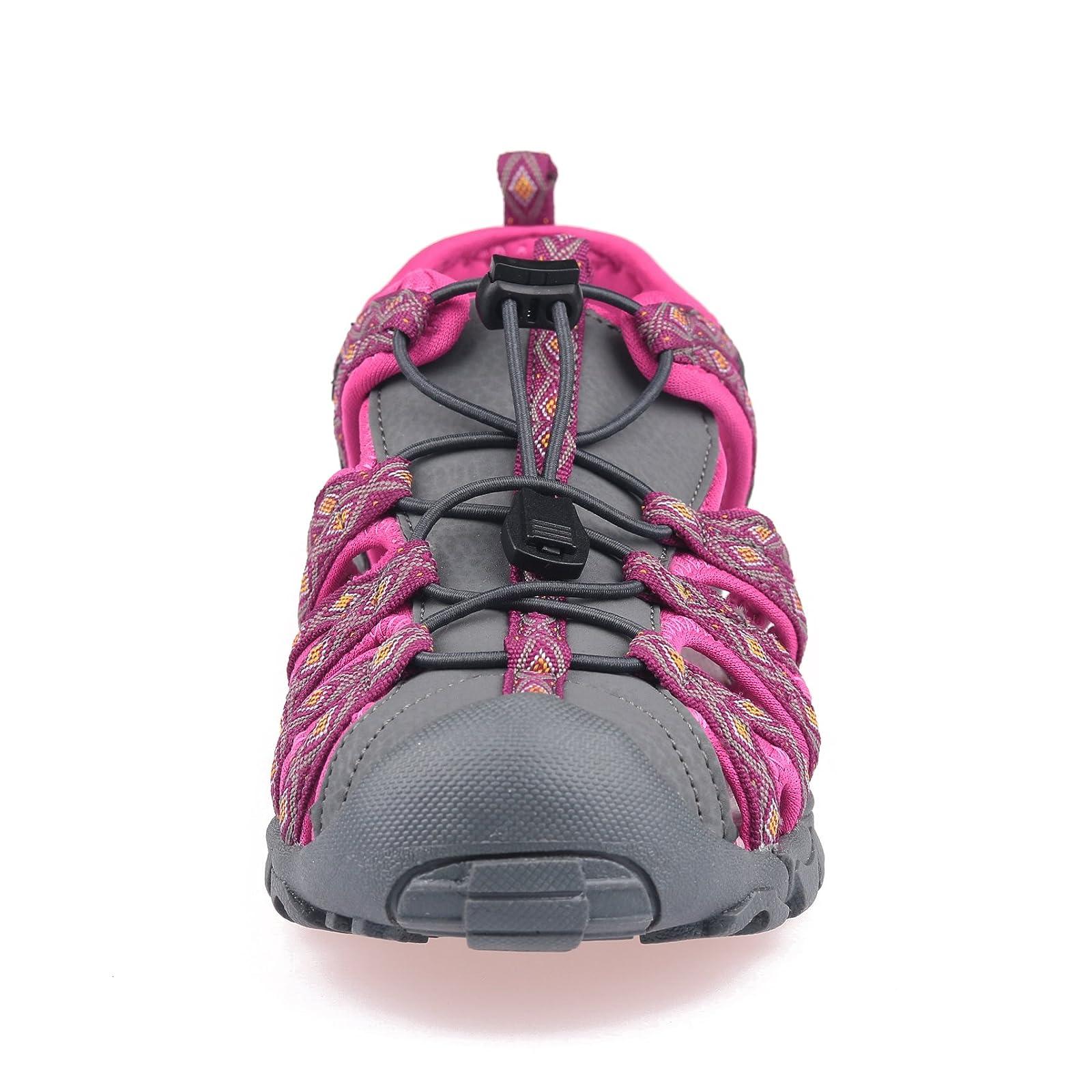 GRITION Women Outdoor Summer Sandals Adjustable Closed - 2