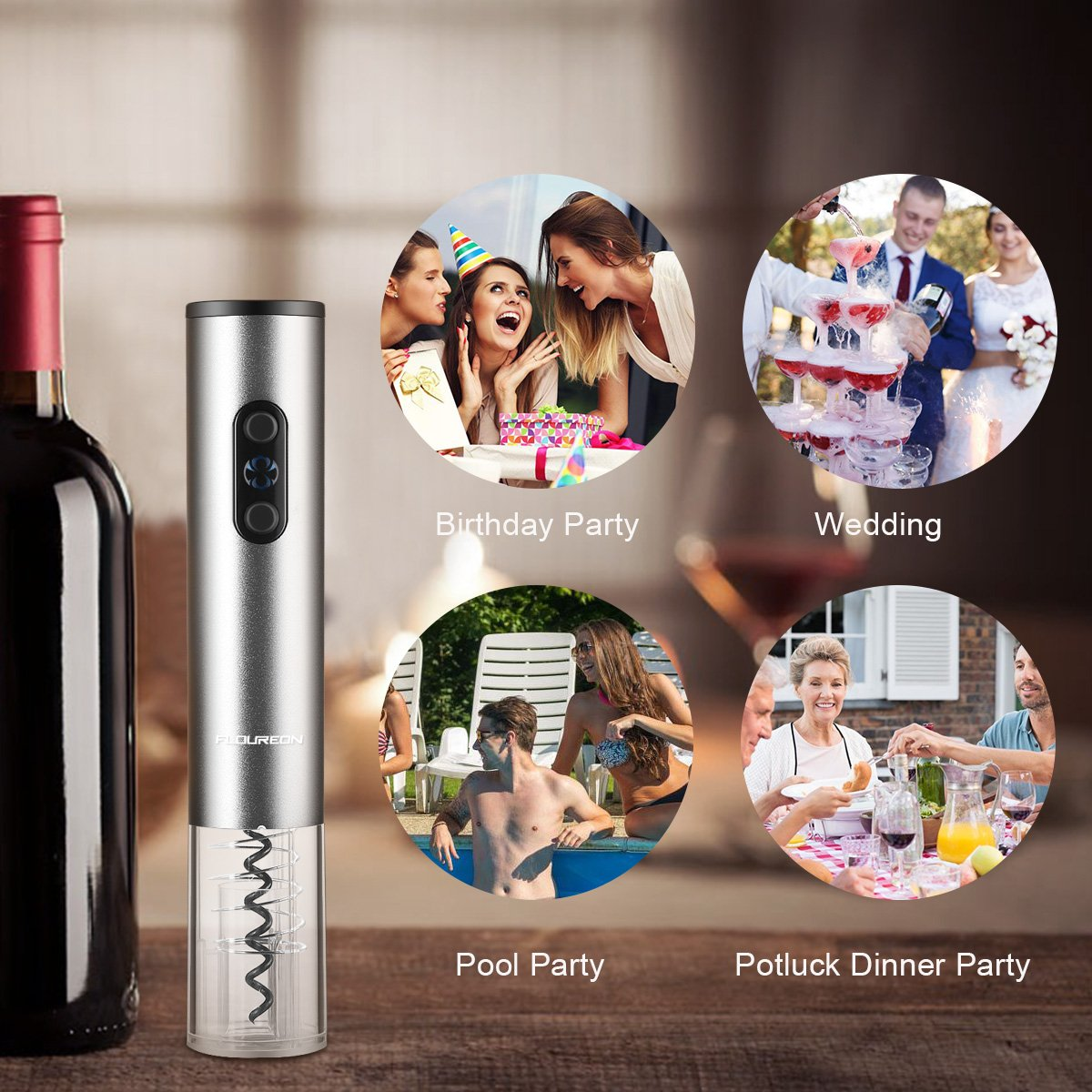 FLOUREON Red Wine Aerator Pourer Quick Aerator Spout Premium Decanter Wine Accessories for Party Christmas Gift