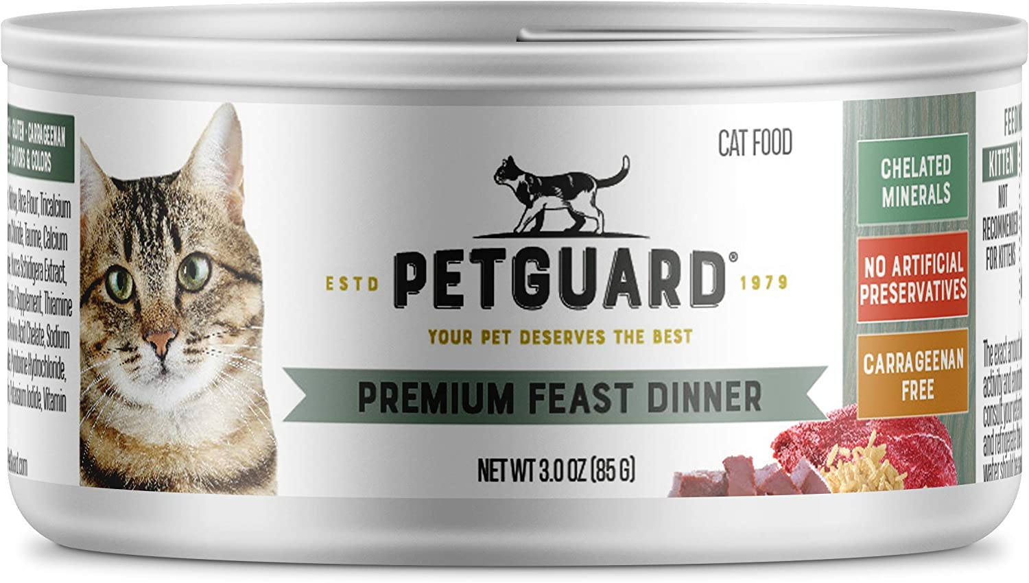 Amazon Com Petguard Premium Feast Dinner Canned Cat Food 3 Oz Case Of 24 Canned Wet Pet Food Pet Supplies