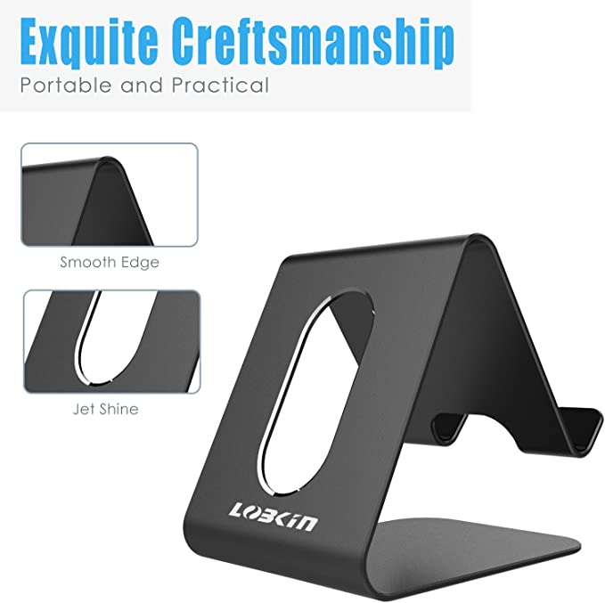 Kingwin Cell Phone Stand Phone Dock Stand Compatible with Switch 6s 7 8 X Plus and All Android Smartphone-Silver Foldable Phone Cradle Holder iPhone 6