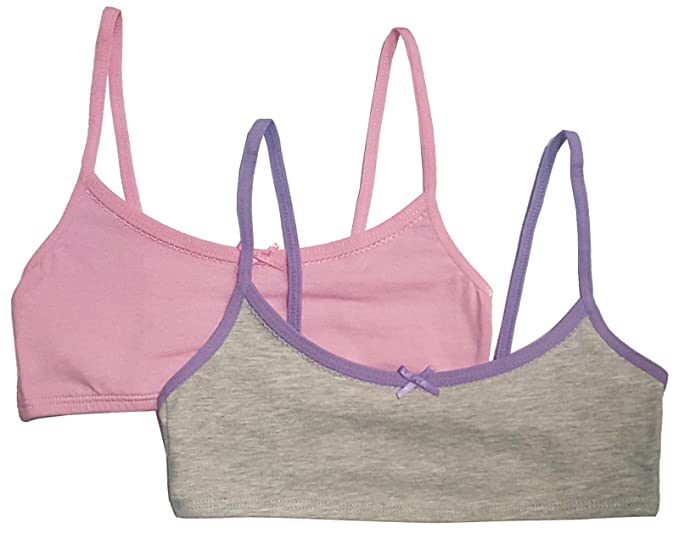 d9680644148 Hanes Girl's Crop Top Bralette (Pack of 2): Amazon.ca: Clothing &  Accessories