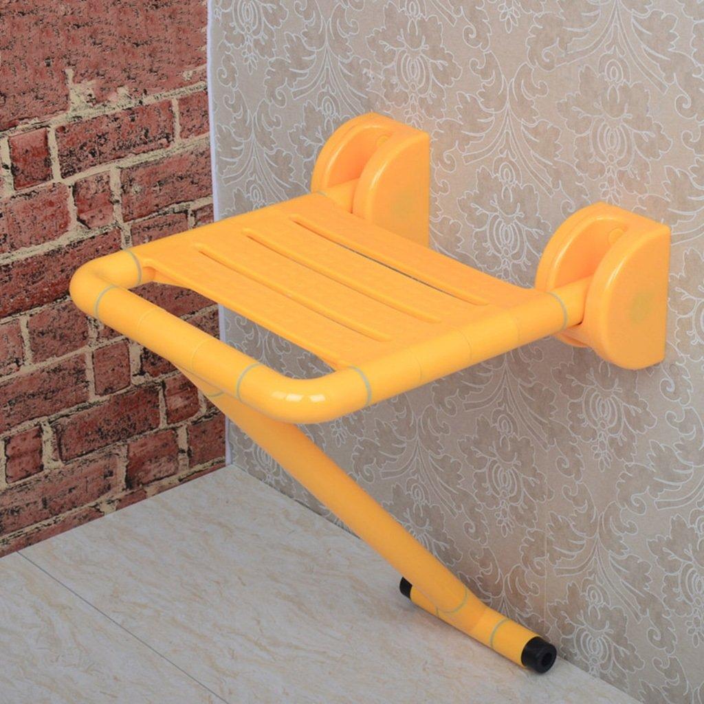 TH シャワーチェア 折りたたみ式バスルームシートノンスリップシャワースツール、レッグスツール付き 風呂椅子 ( 色 : イエロー いえろ゜ ) B07BW1LJ6M イエロー いえろ゜ イエロー いえろ゜