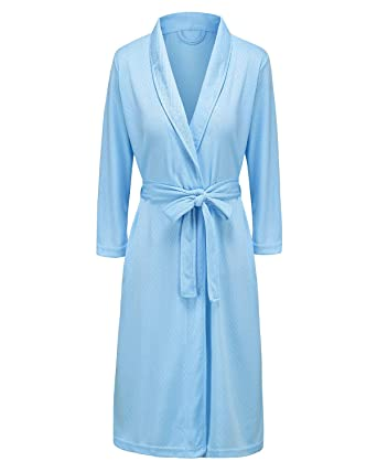 25b2c0a6f1 Bath Robe for Womens Soft Kimono Bathrobe Waffle Weave Knee-Length Hotel  Spa Robe Lightweight