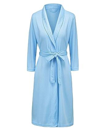 0dd282beb5 Bath Robe for Womens Soft Kimono Bathrobe Waffle Weave Knee-Length Hotel  Spa Robe Lightweight