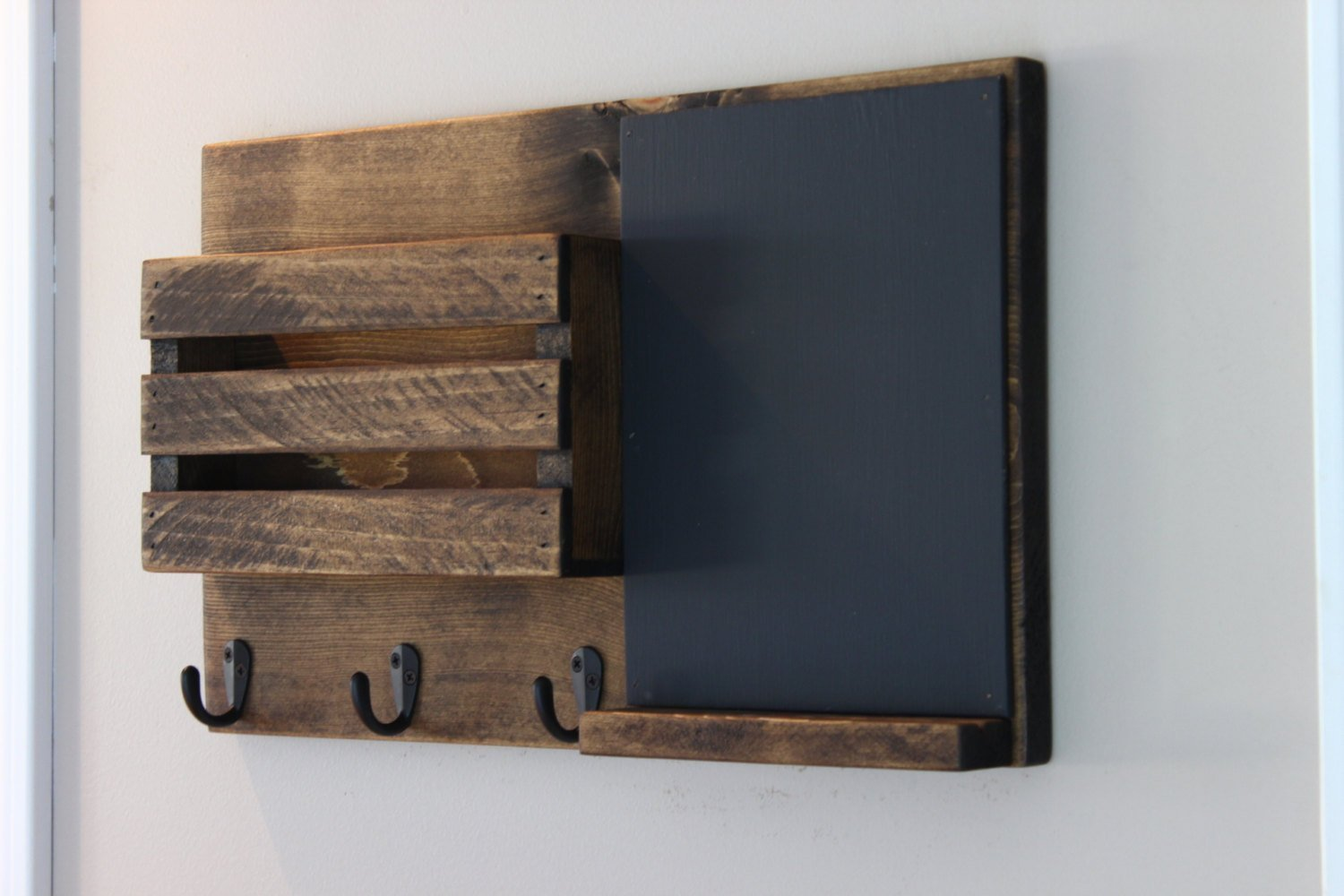 Chalk Board Mail Organizer, Mail Holder, Rustic Organizer, Key Holder, Personalization Option Available