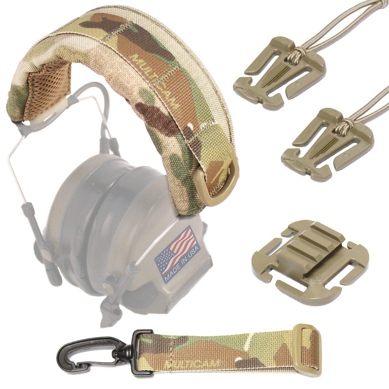 USTs Advancedモジュラー型ヘッドセットカバー B010KOPGEU Multicam + Accessory Bundle Multicam + Accessory Bundle