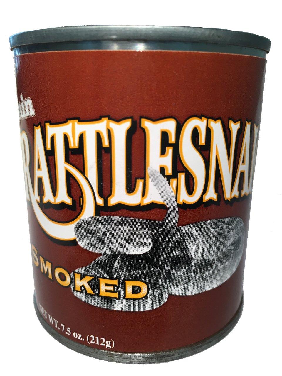 Canned Edible Smoked Rattlesnake