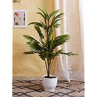 Fourwalls Decorative Artificial Areca Floor Plant (20 Branches, 115 cm)