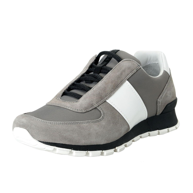 Prada メンズ キャンバス&レザーファッションスニーカーの靴SZ B07CKVHM4Y