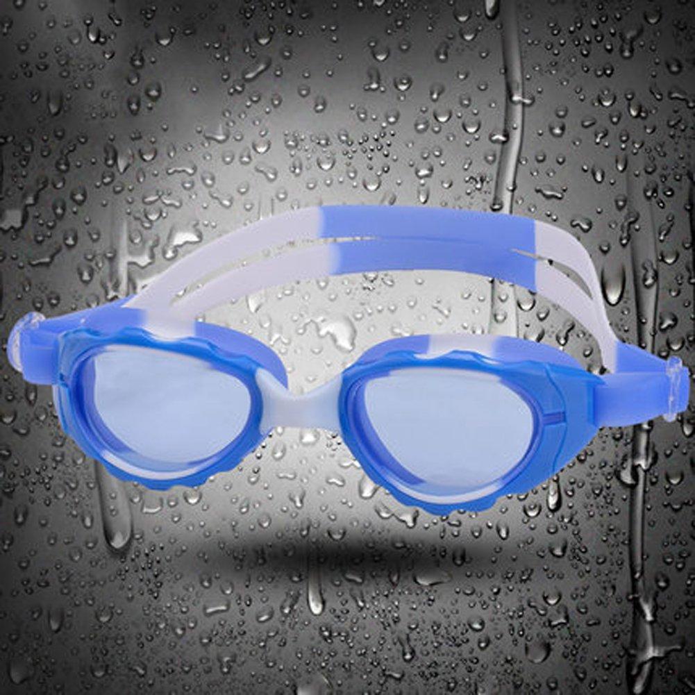 Kinder-Schwimmbrille wasserdicht und Anti-Fog ist keine auffällige Schwimm-Ausrüstung Jungen und Mädchen flache Schwimmbrille B07C7LY1P2 Schwimmbrillen Neueste Technologie
