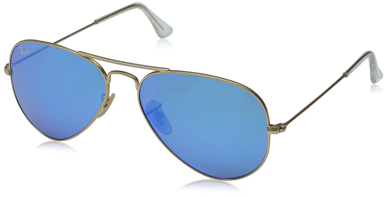 (レイバン) Ray-Ban 【国内正規品】RB3025 サングラス B00O4CMMBU 58 mm|Matte Gold Frame / Blue Mirror Polarized Lens Matte Gold Frame / Blue Mirror Polarized Lens 58 mm