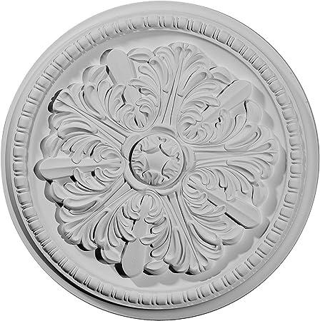 Ekena Millwork CM18SK 18 1//2 OD X 1 1//8 ID X 1 1//2 Sellek Ceiling Medallion