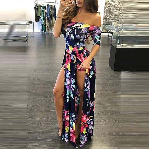 ab79cf70e7 Amazon.com  WensLTD Women Plus Size Jumpsuit Romper Short Trousers Bodycon  Clubwear Playsuit Long Dress (XXXL