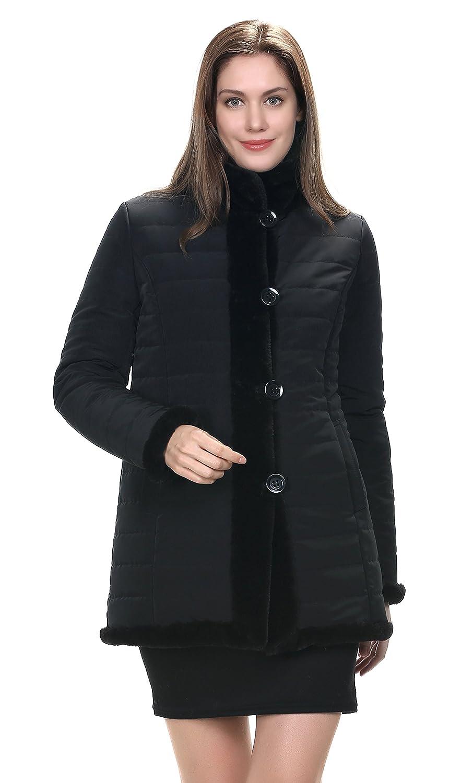Adelaqueen Praktische Umkehrbare Jacke Aus Fabelhaftem Faux Fur Kurzer Damenmantel