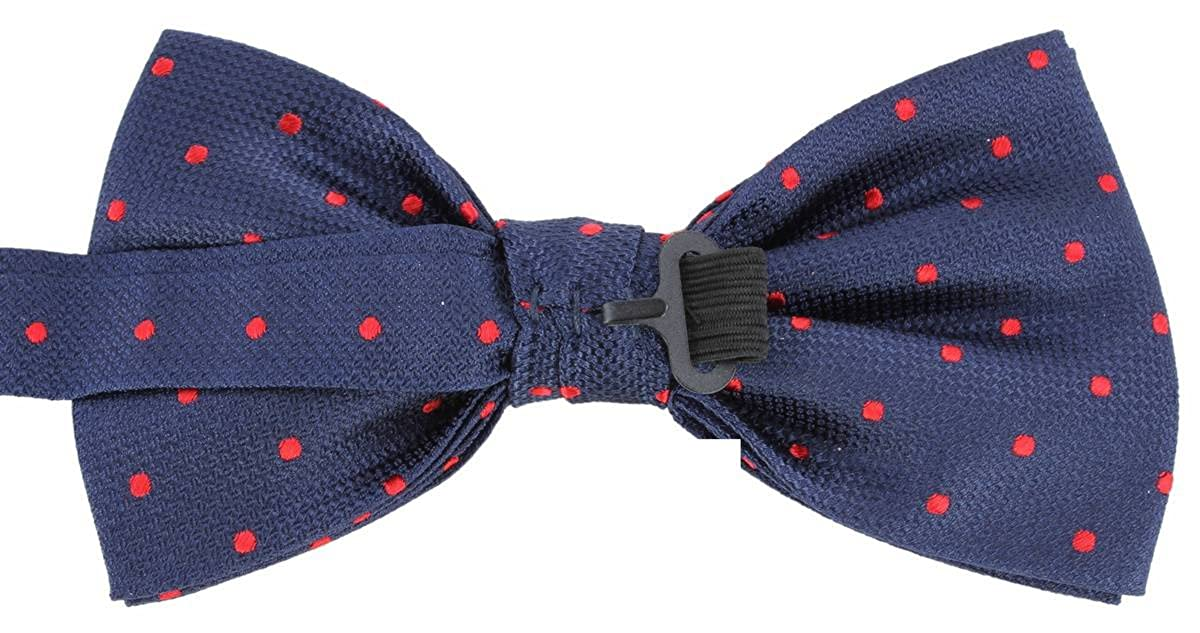 d7dd47effaad Knightsbridge Neckwear Mens Spotted Silk Bow Tie - Navy/Red at Amazon Men's  Clothing store:
